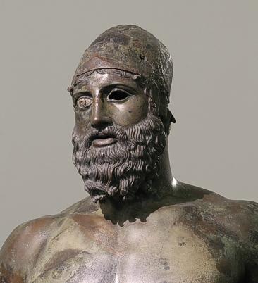 Testa bronze B Fonte Museu de Reggio Calabria