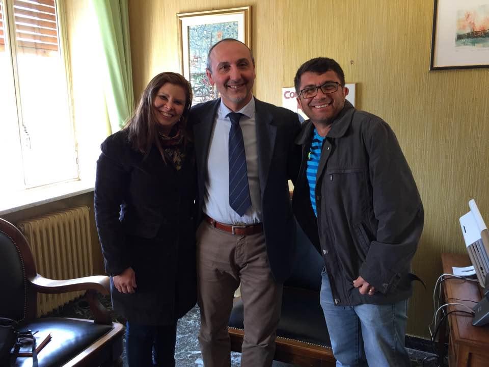 Roseli com o prefeito de Malito