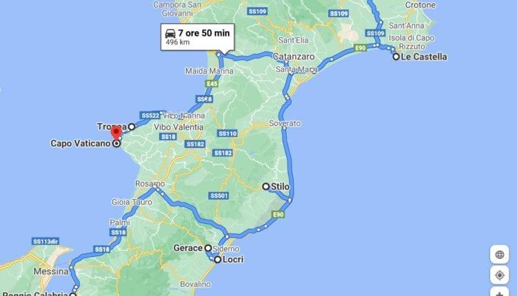 Roteiro de 4 dias pela Calábria com o carro